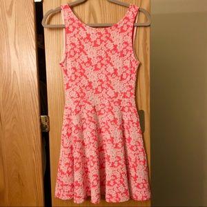H&M Floral Skater Mini Dress